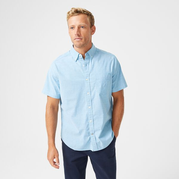 SHORT SLEEVE OXFORD SHIRT - Smokey Indigo Wash