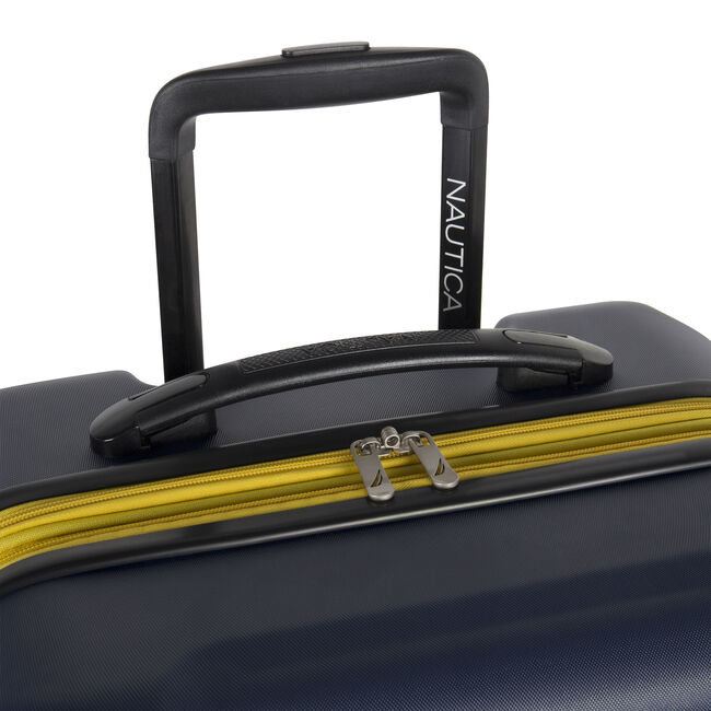"""Vernon Bay 24"""" Hardside Spinner Luggage in Navy/Yellow,Navy,large"""