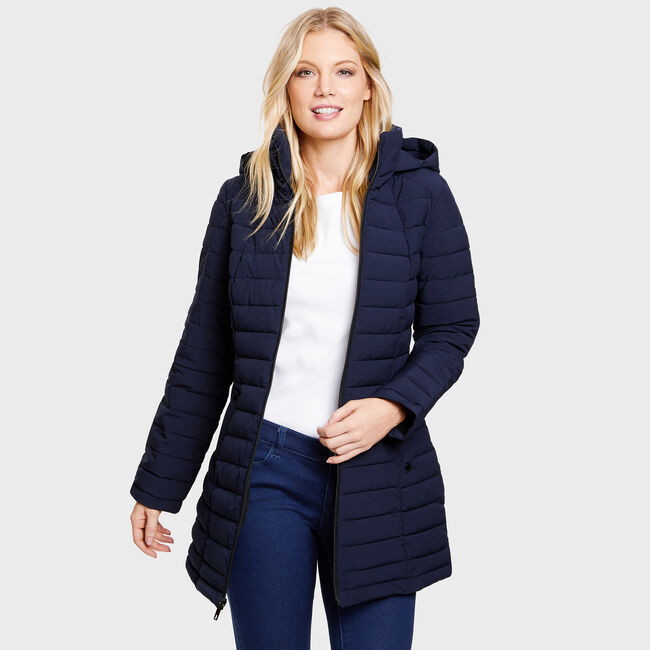 Stretch Midweight Puffer Jacket,Deep Sea,large