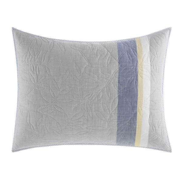 Sea Palms Standard Sham in Grey - Grey Heather