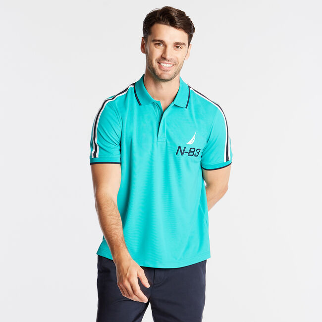 CLASSIC FIT PERFORMANCE POLO,Gulf Coast Teal,large