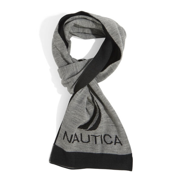 KNIT REGATTA SCARF - Grey Heather