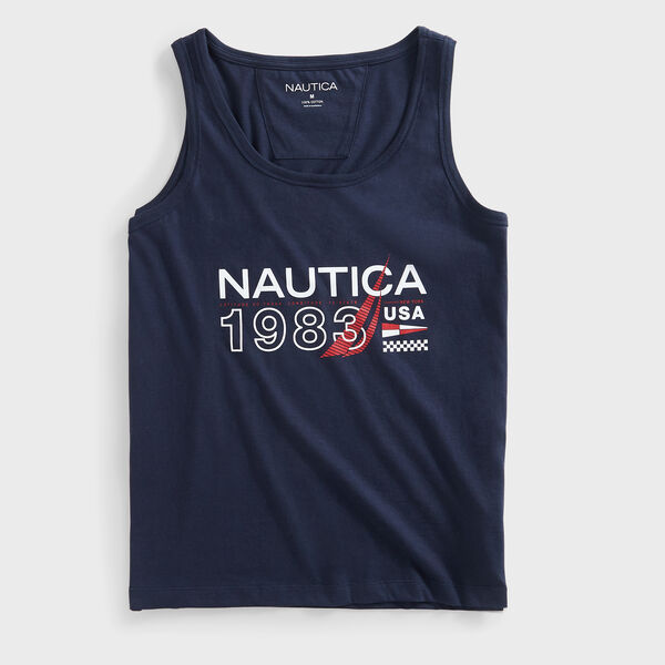 1983 USA GRAPHIC TANK TOP - Navy