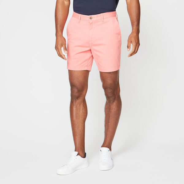 "6"" CLASSIC FIT DECK SHORTS WITH STRETCH - Seaport Salmon"