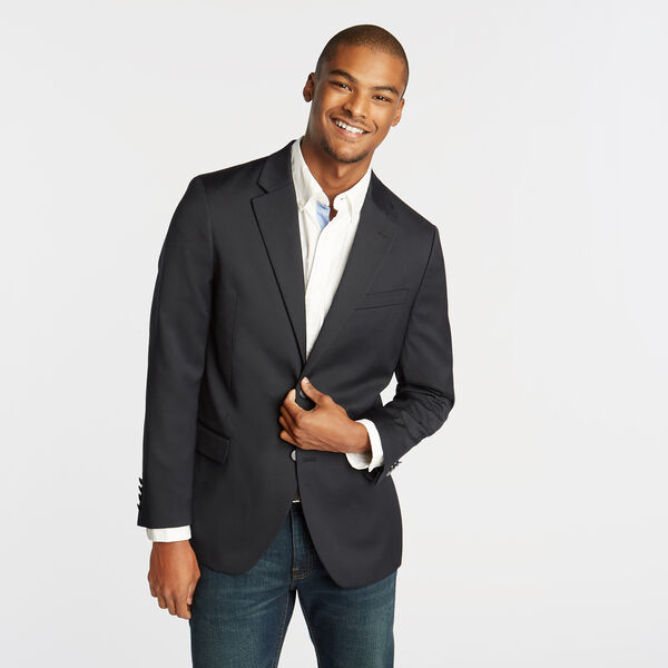CLASSIC FIT NAVY SPORT COAT WITH NAUTICAL LINING - Tugboat Blue