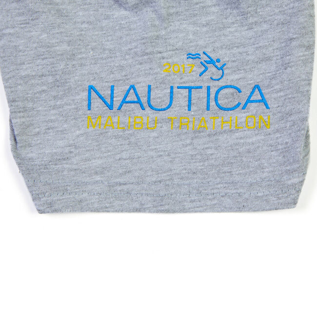 Nautica Malibu Triathlon TriGold Tee,Grey Heather,large