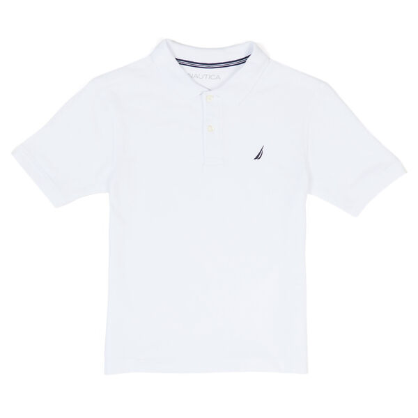 Little Boys' Anchor Stretch Polo Deck Shirt (4-7) - White