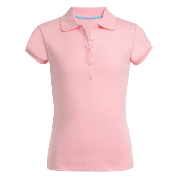 Girls' Short Sleeve Polo (7-16) - Peach Glow