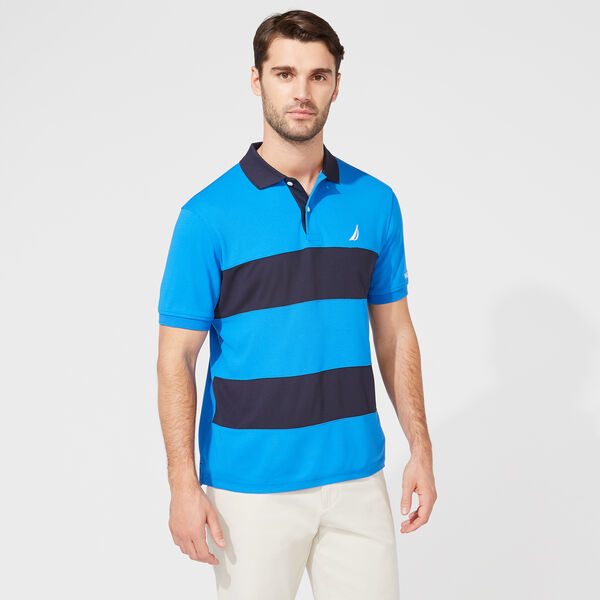 CLASSIC FIT PERFORMANCE NAVTECH STRIPE POLO - True Navy