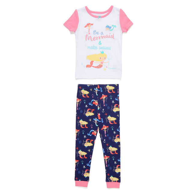 Toddler Girls' Be a Mermaid PJ Pants Set (2T-4T),Castaway Aqua,large