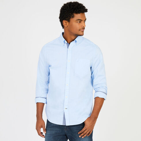 Soft Wash Long Sleeve Classic Fit Shirt - Blue Grass