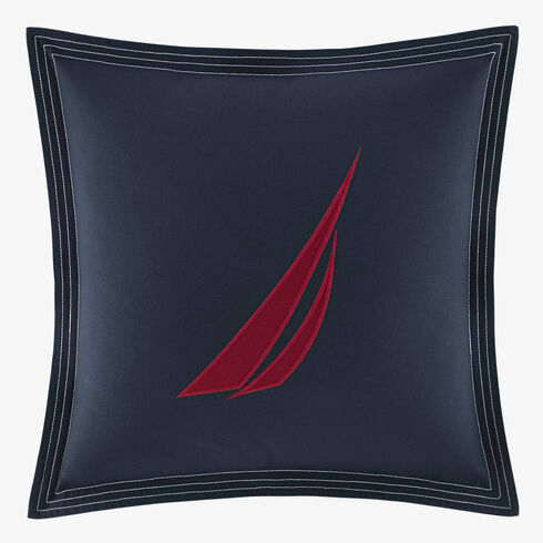 Seaward Twill J-Class Throw Pillow - Navy