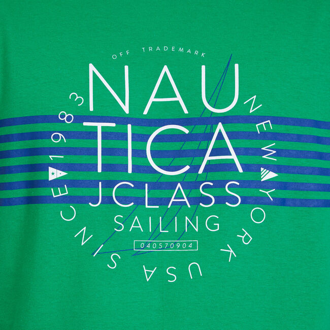 Big & Tall Heritage J-Class Sailing Graphic T-Shirt,Light Sonic,large
