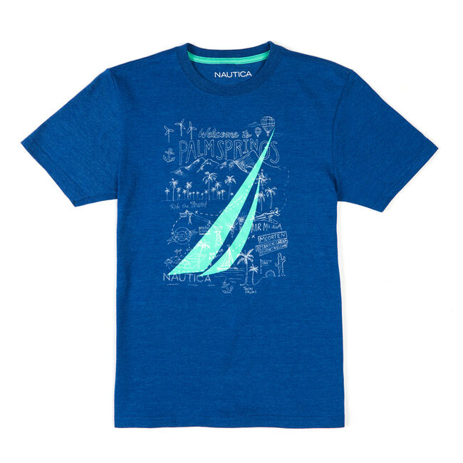 Boys' Morten Short Sleeve Graphic Tee (8-20),Navy,large