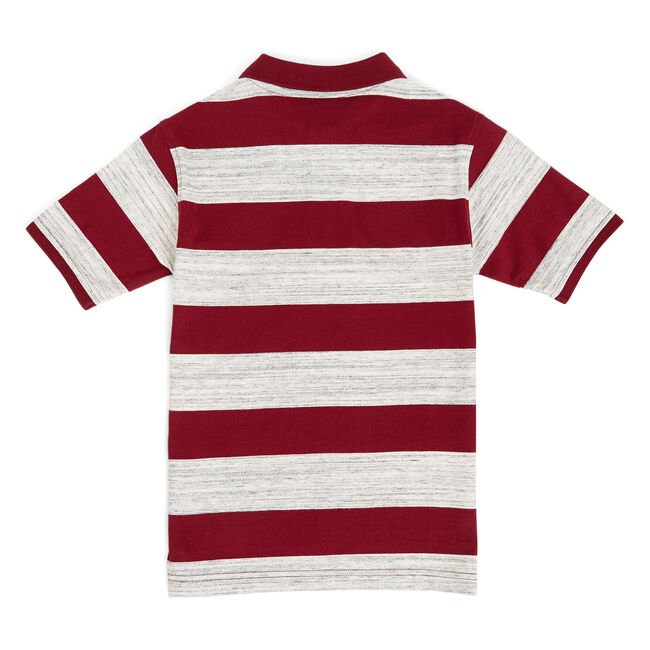 Boys' Trevor Space Dye Striped Polo (8-20),Pale Orchid,large