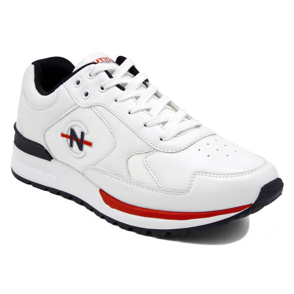 NAUTICA COMPETITION DEL RIO LOW TOP IN NAVY MULTI - Bright White