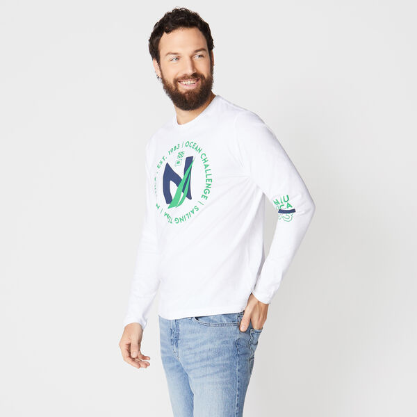 GRAPHIC LONG SLEEVE TEE - Bright White