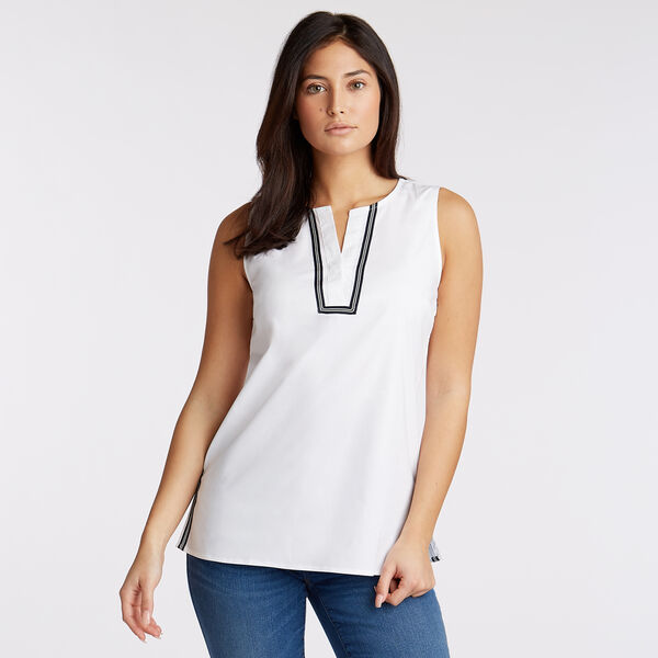 Sleeveless Woven Top - Bright White