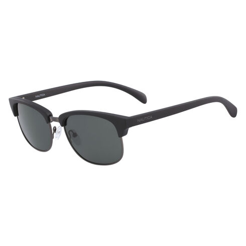 Iconic Clubmaster Sunglasses with Matte Frame - Black Onyx