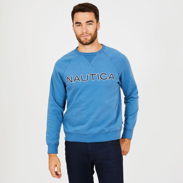 Long Sleeve Fleece Crewneck Sweatshirt - Blue Stern
