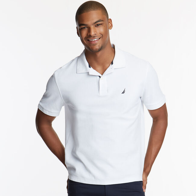 CLASSIC FIT PERFORMANCE DECK POLO,Bright White,large