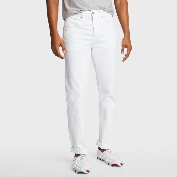 White Straight Fit Jeans - White
