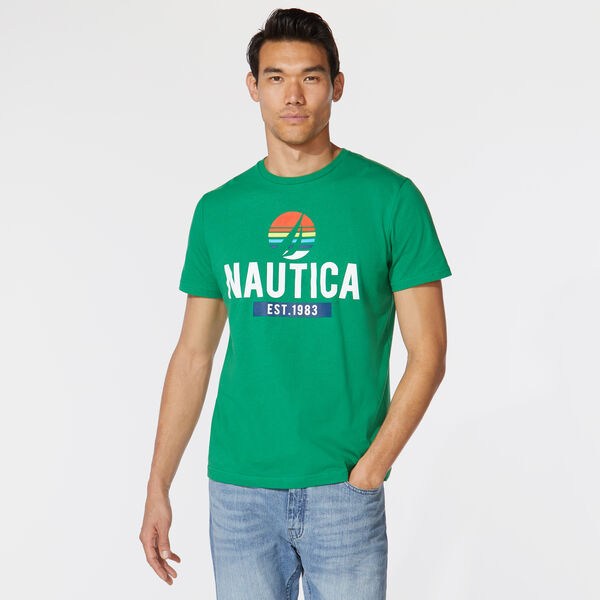 PREMIUM COTTON NAUTICA LOGO GRAPHIC TEE - Cosmic Fern