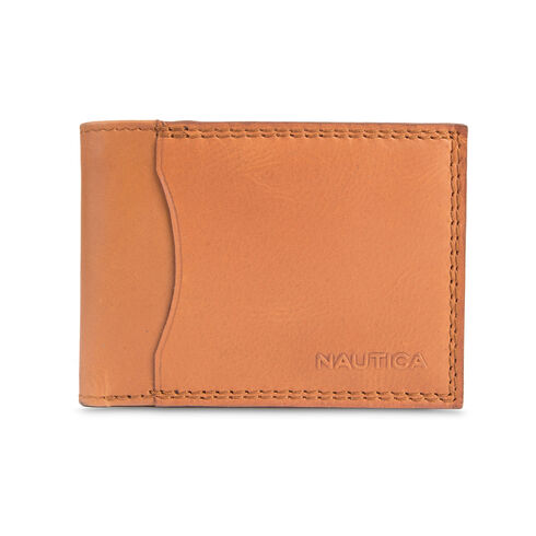 Malaquite Slim Passcase Wallet - Oyster Brown
