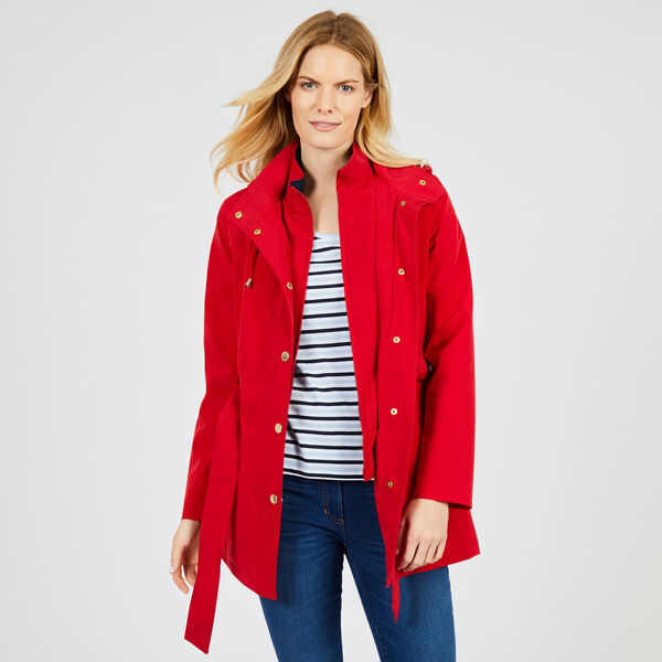 Water Resistant Anorak Jacket - Tomales Red
