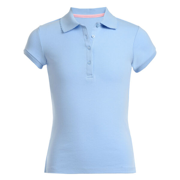 Girls' Short Sleeve Polo (7-16) - Turquoise