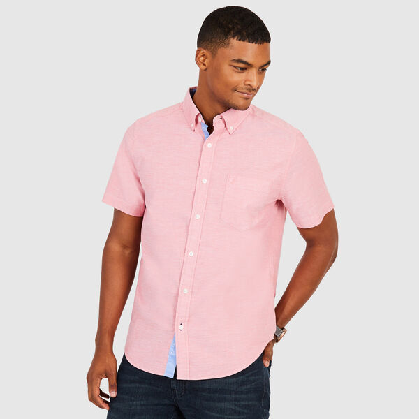 CLASSIC FIT STRETCH SHORT SLEEVE OXFORD SHIRT - Sailor Red
