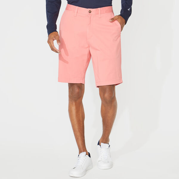 "10"" CLASSIC FIT DECK SHORTS WITH STRETCH - Seaport Salmon"