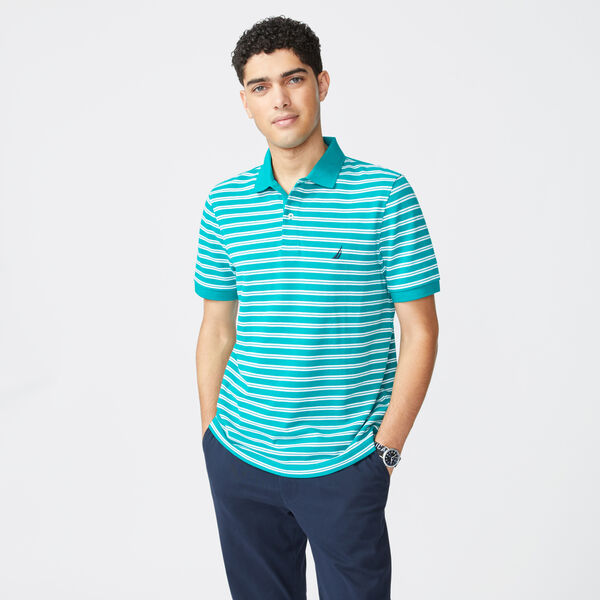 COLORBLOCK PREMIUM COTTON POLO - Schooner Green