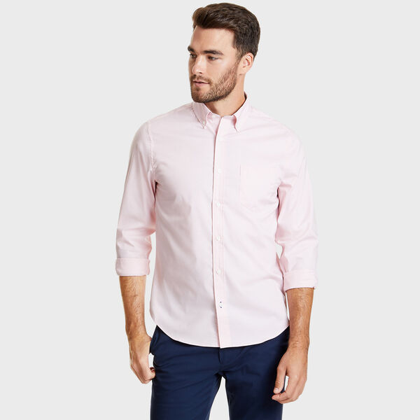 SLIM FIT WRINKLE RESISTANT SHIRT IN SOLID - Orchid Pink