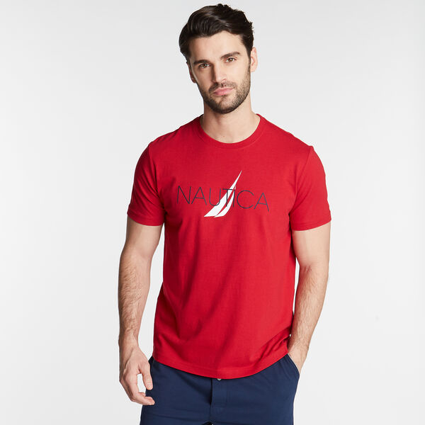 NAUTICA LOGO SLEEP T-SHIRT - Nautica Red