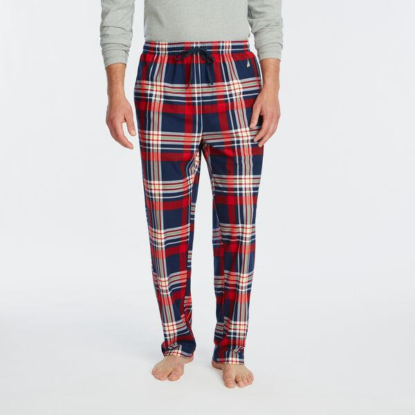 PLAID FLEECE SLEEP PANT - Estate Blue