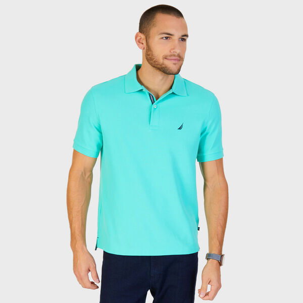 Big & Tall Short Sleeve Classic Fit Stretch Deck Polo - Mist Green