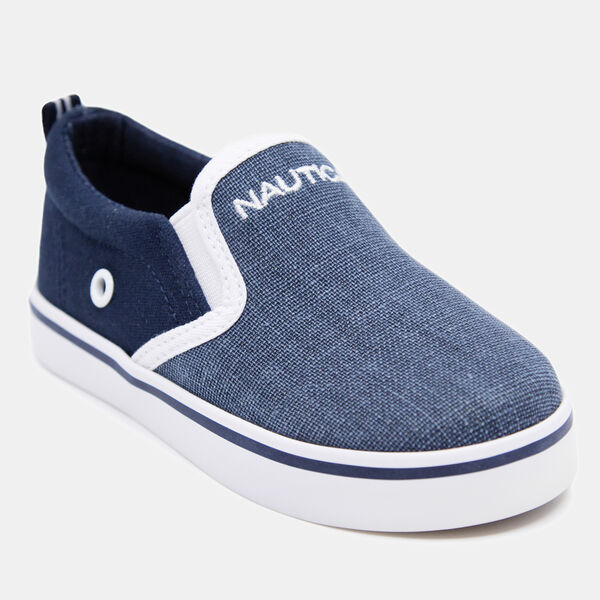 BOY'S WOVEN CANVAS SNEAKER - Starlight Blue