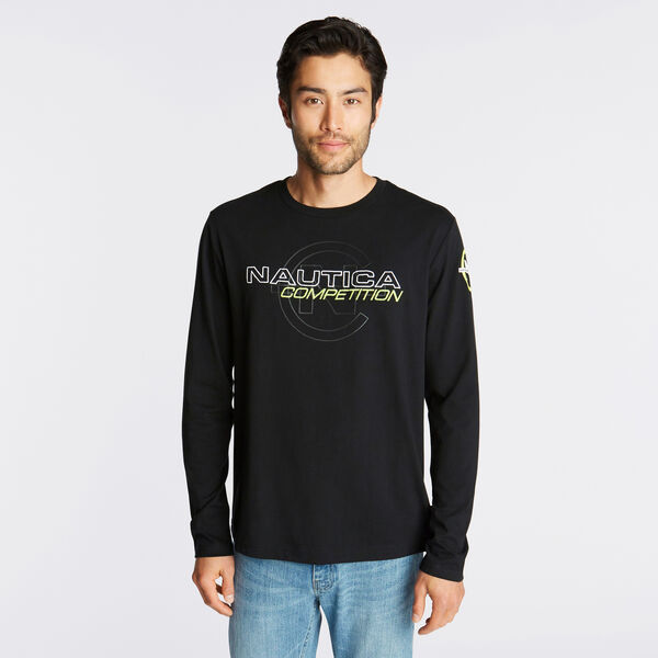 NAUTICA COMPETITION LONG SLEEVE LOGO T-SHIRT - True Black