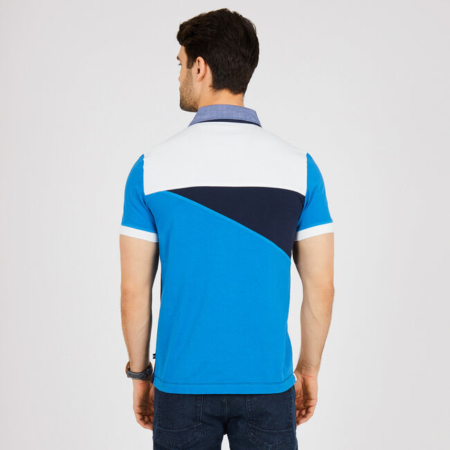 Slim Fit Pieced Polo Shirt,Marshmallow,large