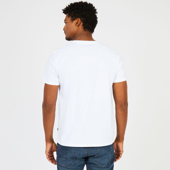 Big & Tall Signature Graphic T-Shirt,Bright White,large