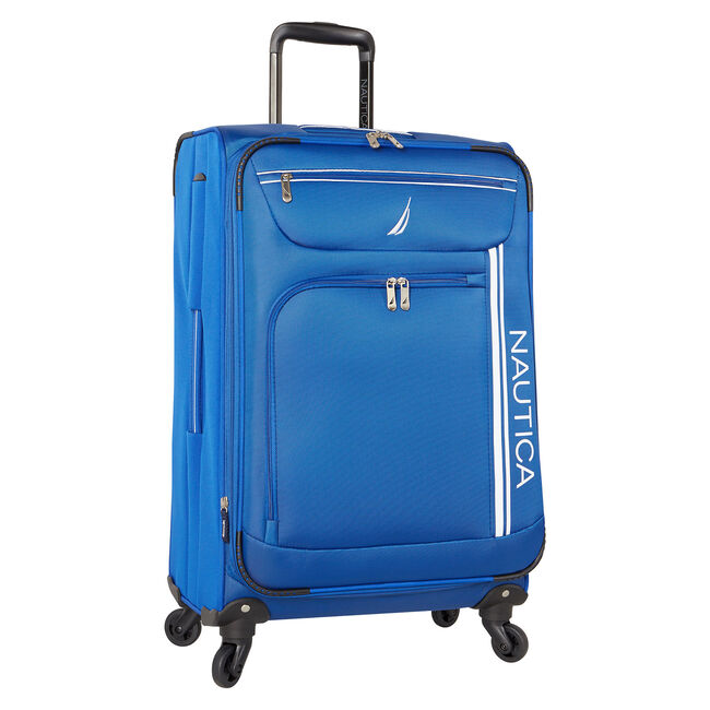 "Washboard 24"" Expandable Spinner Luggage,Bright Cobalt,large"
