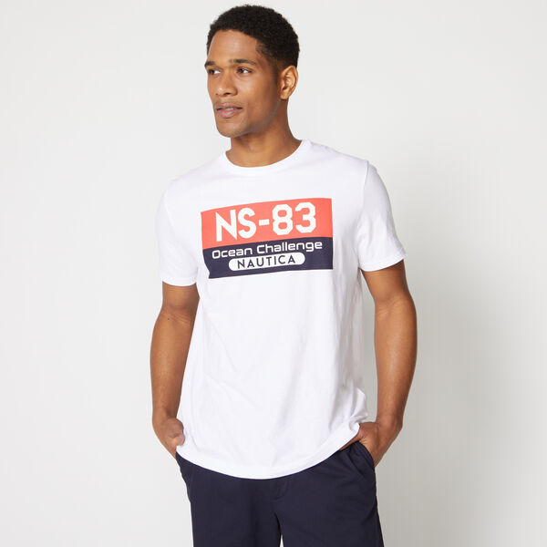 NS-83 OCEAN CHALLENGE GRAPHIC TEE - Bright White
