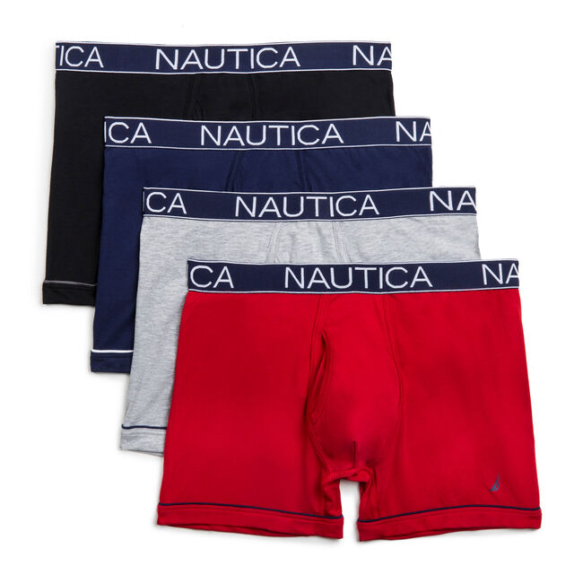 Performance Boxer Briefs, 4-Pack,True Navy,large
