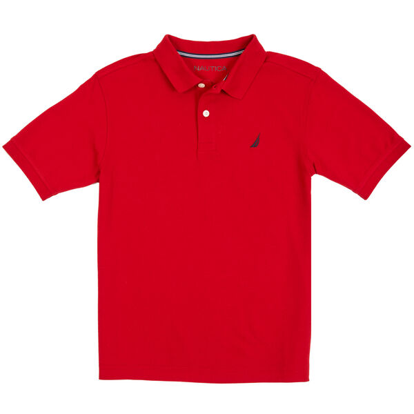 Little Boys' Stretch Polo Shirt (4-7) - Dark Acacia