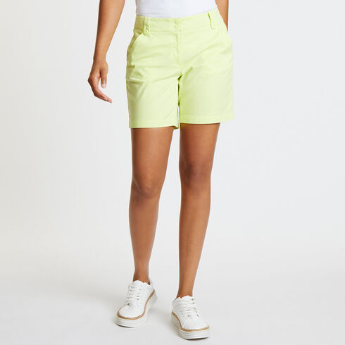 "Flat Front Stretch Twill Shorts - 7"" Inseam - Light Olive"
