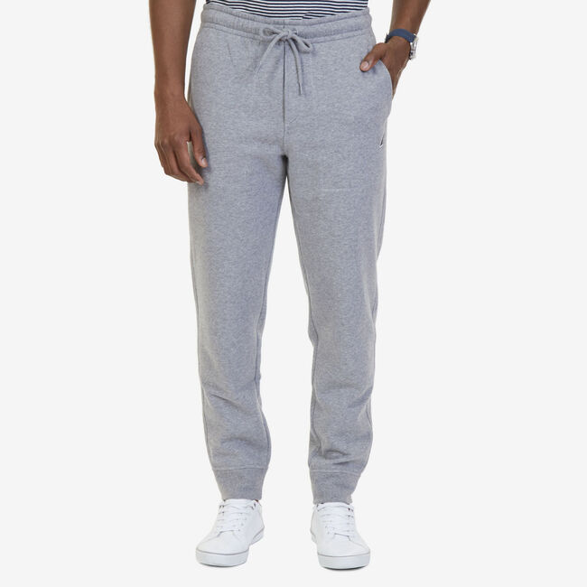 Signature Drawstring Joggers,Stone Grey Heather,large