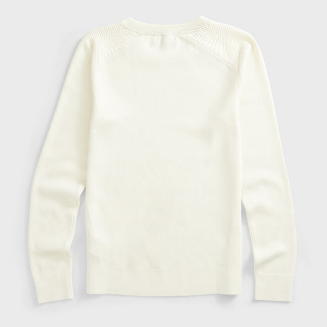 SUSTAINABLY CRAFTED RIB-KNIT SWEATER,Marshmallow,large
