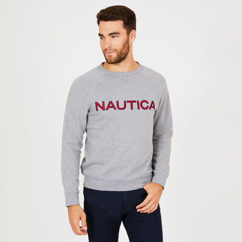 Long Sleeve Fleece Crewneck Sweatshirt - Ash Heather