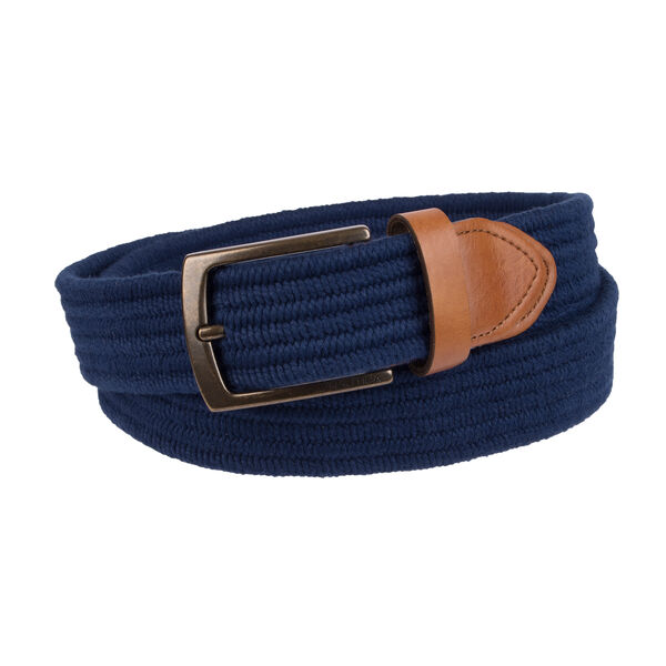Braided Stretch Belt - Navy
